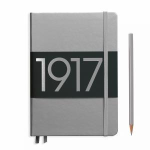Leuchtturm A5 Medium Silver Ruled Hardcover Notebook Metallic Edition