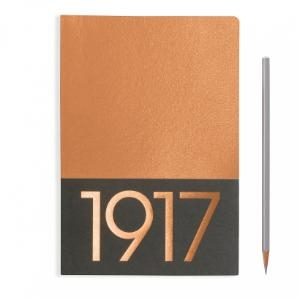 Leuchtturm A5 Jottbook Medium Copper Plain 2pack Metallic Edition Softcover