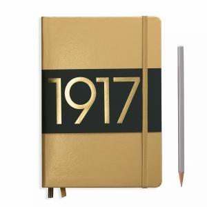 Leuchtturm A5 Medium Gold Dotted Hardcover Notebook Metallic Edition