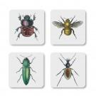 Onderzetters Insecten set van 4 Cubic The Curious Collection