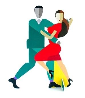 Pop Out Parade Tango Couple