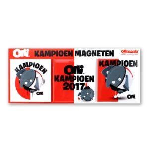 Olli Kampioen Magneten (set van 3 magneten)