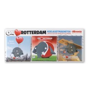 Olli loves Rotterdam Magneten (set van 3 magneten)