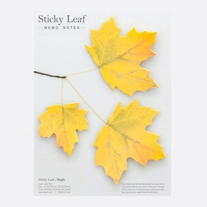 Leaf It Maple Yellow - Sticky Notes