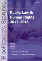 Blackstone's Statutes On Public Law & Human Rights 2017-2018