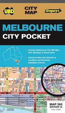Melbourne City Pocket Map 360 16th Ed