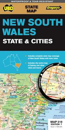 New South Wales State & Cities 1 : 1 600 000