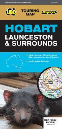Hobart Launceston & Surrounds Tasmania   1 : 25 000