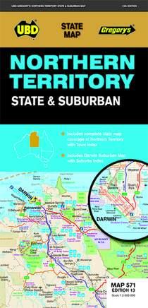 UBD Northern Territory State & Suburban  1 : 2 000 000 - 1 : 75 000