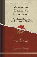 Manuals Of Emergency Legislation