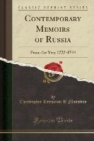 Contemporary Memoirs Of Russia