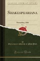 Shakespeariana, Vol. 3