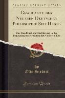 Geschichte Der Neueren Deutschen Philosophie Seit Hegel