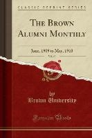 Brown Alumni Monthly, Vol. 10