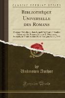 Bibliotheque Universelle Des Romans