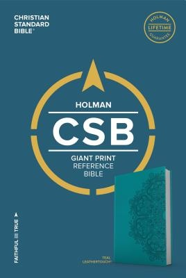 CSB Giant Print Reference Bible, Teal Leathertouch