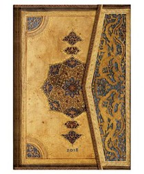 Paperblanks Diary Agenda 2018 Safavid Midi Day-at-a-time 12-maanden