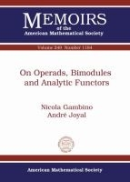 On Operads, Bimodules And Analytic Functors