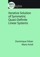 Iterative Solution Of Symmetric Quasi-definite Linear Systems