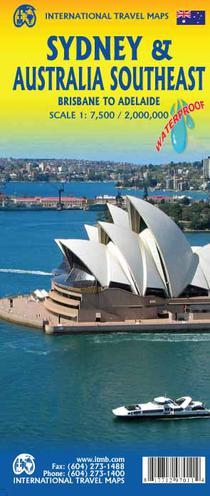 Stadtplan Sidney /Australia Southeast 1:7.500 / 2.000.000