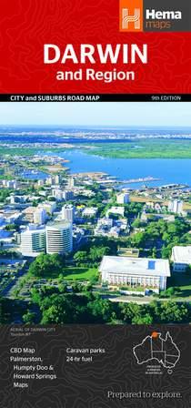 HEMA Darwin and Region City and Suburbs Road Map 1 : 25 000