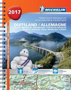 Atlas Michelin Duitsland, Benelux, Oostenrijk, Zwitserland, Tsjechie rep. 2017