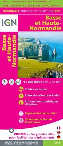 Basse et Haute Normandie 2015. 1 : 250 000