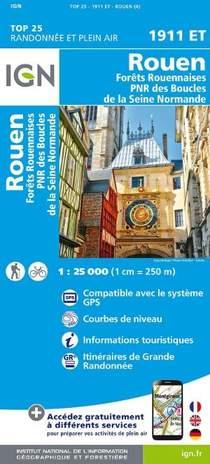Rouen - Forts Rouennaises - PNR des Boucles de la Seine Normande 1 : 25 000