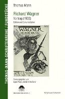 Richard Wagner. Vortrag (1933)