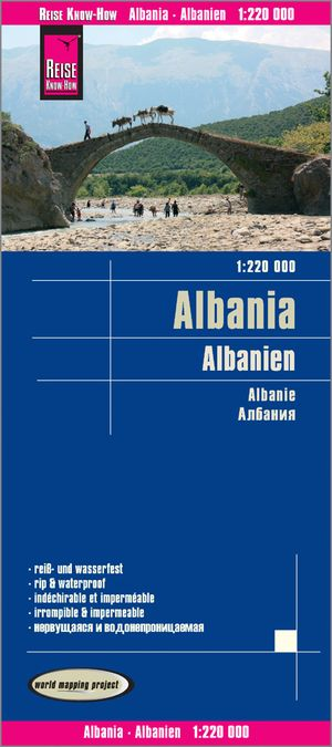 Reise Know-How Albanie Albania 1:220.000