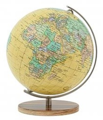 Royal Mini Globe Houten Voet Columbus
