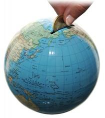 Duo Mini Globe Spaarpot Columbus