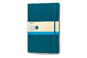 Moleskine Classic Colored Notebook, Extra Large, Dotted, Underwater Blue