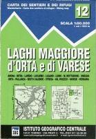 IGC Italien 1 : 50 000 Wanderkarte 12 Laghi Maggiore