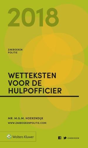 Zakboek Wetteksten voor de Hulpofficier 2018