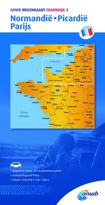 Wegenkaart 4. Normandie,Picardië,Parijs