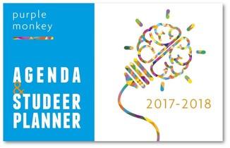 Purple Monkey Agenda en studeerplanner - 2017-2018