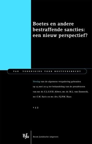 Boetes en andere bestraffende sancties: een nieuw perspectief?