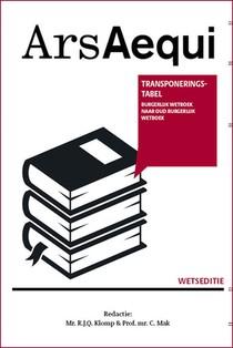 Transponeringstabel Burgerlijk wetboek naar Oud Burgerlijk wetboek