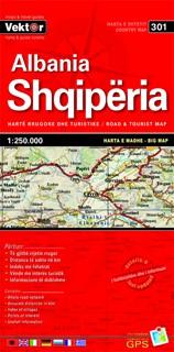 Vektor Albanie 1:250.000 GPS wegenkaart