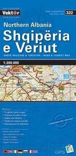 Albanien Nord Straßenkarte 1 : 200 000 GPS