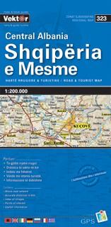Albanien Mitte Straßenkarte 1 : 200 000 GPS