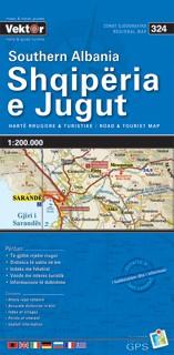 Albanien Süd Straßenkarte 1 : 200 000 GPS